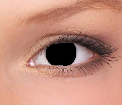 Funlenzen Blind Black, Blind Lens Zwart, ondoorzichtige lens