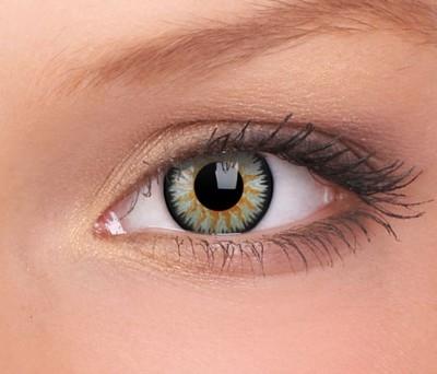 Glamour Green contactlenzen op sterkte, 3 maandslenzen
