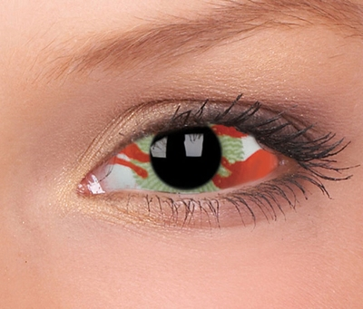 Sclera Contagion funlenzen, rood/wit, 6 mnd