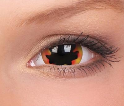 Crazy Lenzen, extra groot mini sclera 17 mm, Blackhole Sun