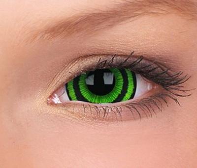 Crazy Lenzen mini sclera (17 mm), Green Goblin, jaarlenzen