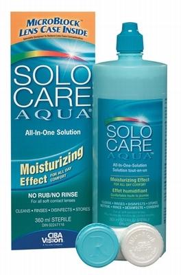Lenzenvloeistof Solocare Aqua 360ml + lenzenhouder