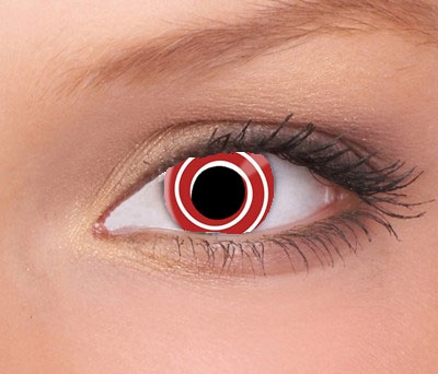 Red Spiral / rode spiraal jaarlenzen (per paar)