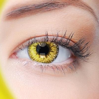 Funlenzen, Gouden contactlenzen