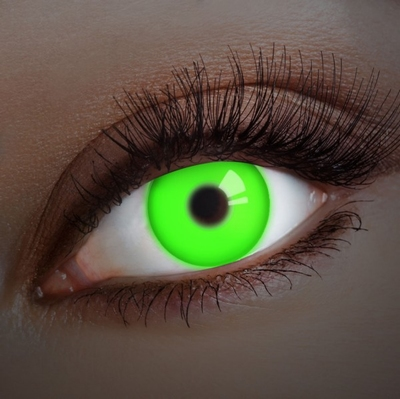 Crazy lenzen, Funlenzen Glow UV Green, jaarlenzen