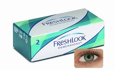 Kleurlenzen Freshlook Dimensions 2-pack Sea Green Plano