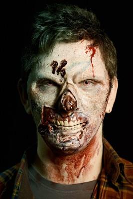 Zombie voorhoofd wond Harry