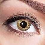Funlenzen, Gouden Swirls contactlenzen (jaarlenzen)