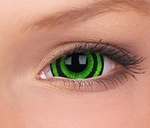 Crazy Lenzen, extra groot mini sclera (17 mm), Green Goblin